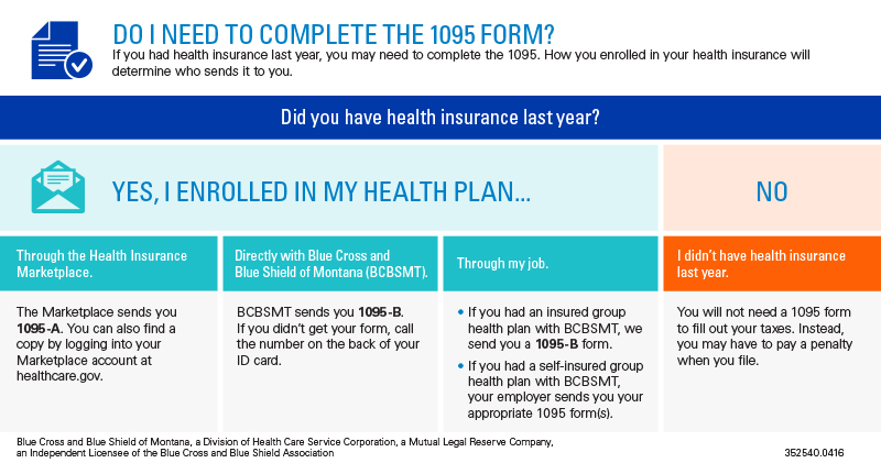 Save this image if you had health insurance last year; you may need to complete the 1095 tax form.
